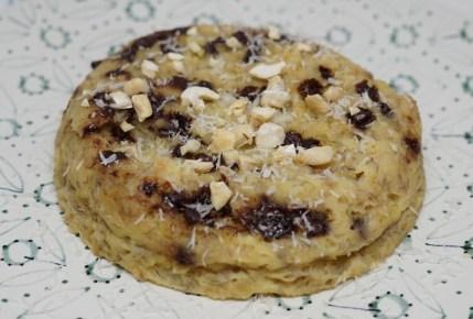 Recette : Bowl Cake banane et pépites de chocolat