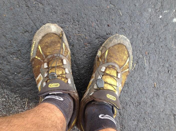 Mes chaussures jaunes ont changé de couleur