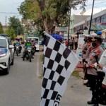 Bupati Alfedri Bersama Kapolres Siak Lepas Pasukan Pendistribusian Bansos Serentak TNI-Polri di Kecamatan Tualang