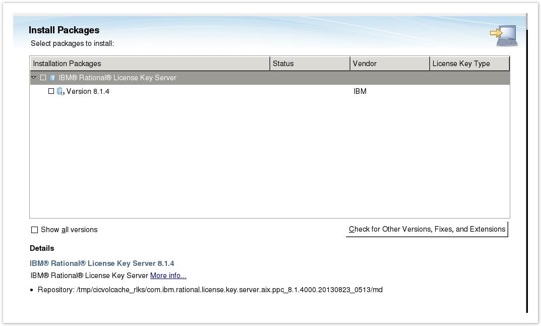 installing rational license key server on linux