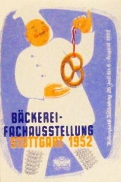 Plakat, Bäckerei-Fachausstellung, Poster