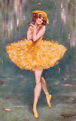 Gemälde: Ballerina in gelbem Kleid