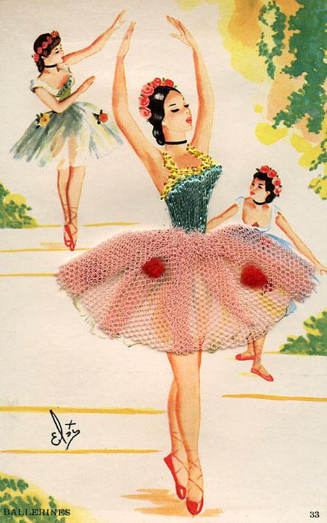 3D-Postkarte: Ballerina