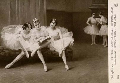 Balletttänzer machen Pause