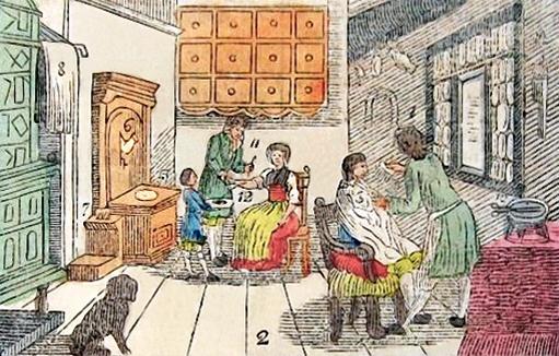 Rasur und Aderlass, um 1800