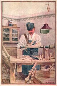 Drechsler, Handwerker, drechseln, Holzarbeit