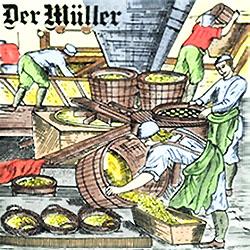 Müller bei der Arbeit