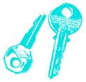 zwei moderne Schlüssel