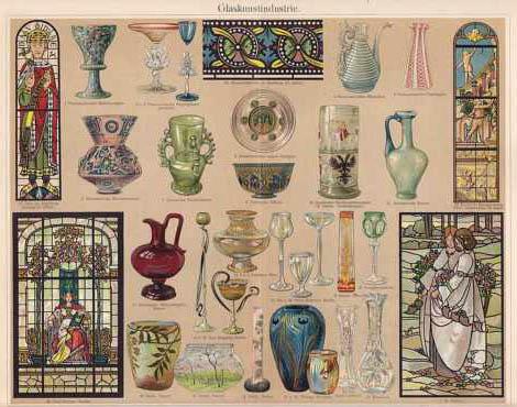 Die Kunst des Glasmalers: verschiedene Beispiele wie Fenster und bemalte Gläser