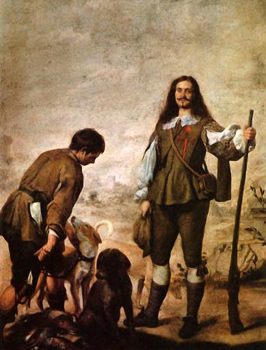 Gemälde: Jäger mit Hunden