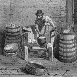 Käser beim Kneten