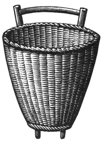 sw-Illustration: geflochtene Kiepe