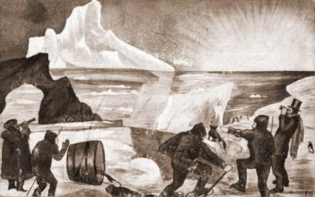Polarforscher auf Expedition im tiefen Eis