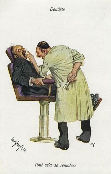 alter Mann auf dem Zahnarztstuhl