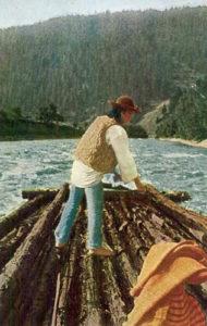 Flößer, Floß, Holzfloß