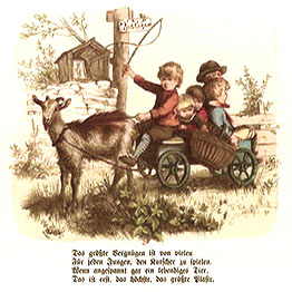 Kutscherspiel, Kinder, Ziege