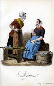 Fischfrauen, Fischhändlerinnen, Fischverkauf, Fischverkäuferinnen