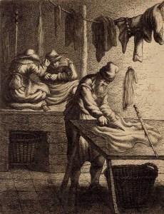 drei Schneider in der Schneiderstube