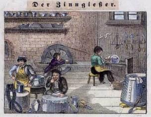 Zinngießer, Zinn, Handwerker