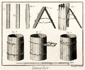Herstellung einer Holztonne