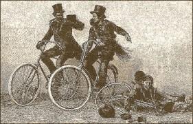 Kaminfeger auf dem Fahrrad