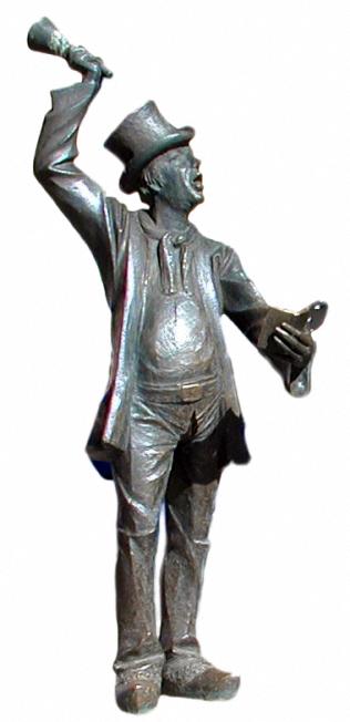Bronzefigur, Bronzestatue, Ausrufer