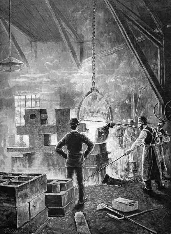 Stich: Arbeit in der Eisengießerei