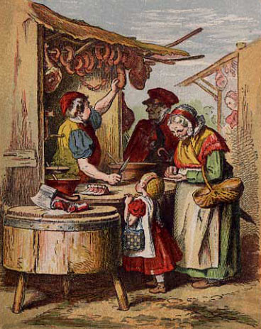 Metzger, Fleischer, Wurstverkauf, Fleischverkauf, Wurstwaren