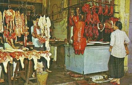 Metzgerei, Fleischer, Metzger, Singapur, Fleischverkauf