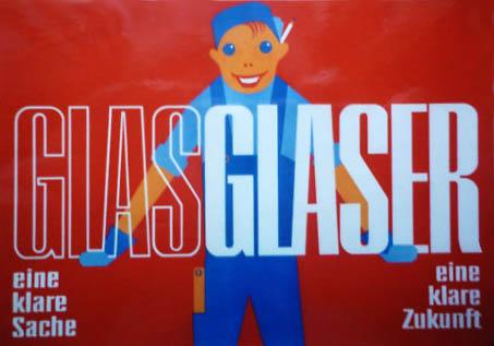 Reklame, Werbung, Plakat, Glaser