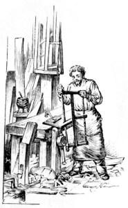 Schreiner, Tischler, Holzarbeit, Säge, Werkstatt