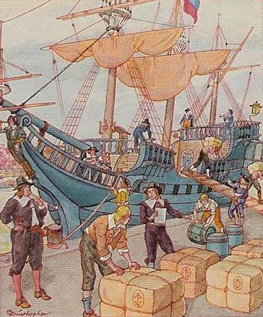 Tabakhandel, Verschiffung, Transport, Handel