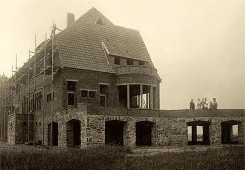 Bauarbeiter, Haus, Rohbau