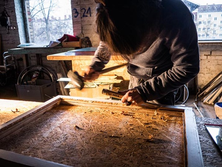Werkstatt, Arbeit, Fensterflügel