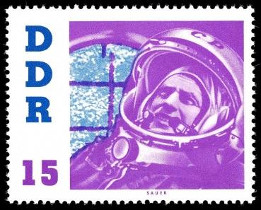 DDR, Briefmarke, Kosmonaut, Astronaut, Titow, Wostok 2