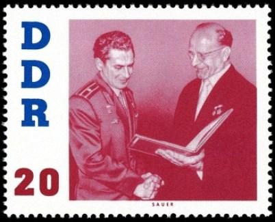 DDR, Briefmarke, Kosmonaut, Astronaut, Titow, Orden, Ulbricht