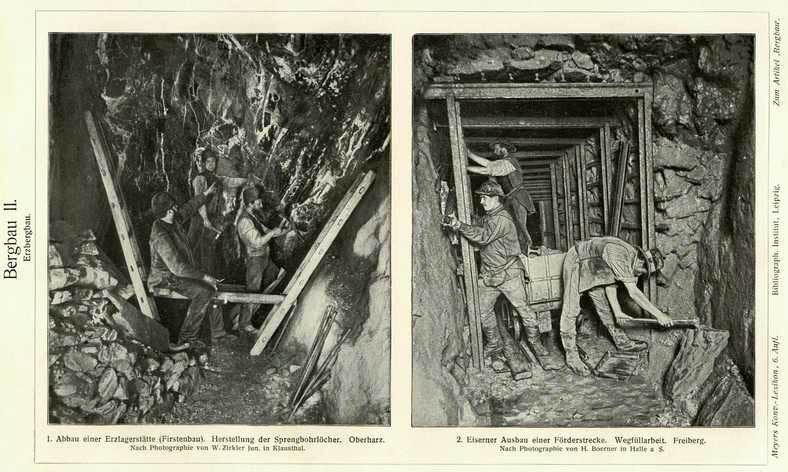 sw-Fotos: Arbeiter in einer Erzmine
