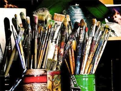Kunstmaler, Maler, Pinsel