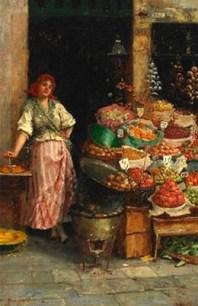 Obsthändlerin, Obst, Verkauf, Italien