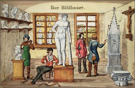 Steinbildhauer, Bildhauer, Steinplastiker, Bildhauerwerkstatt