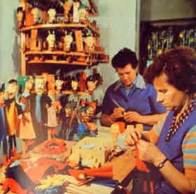 Puppenmacherinnen, Puppen, Werkstatt