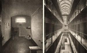 alte sw-Fotos vom Gefängnisinneren