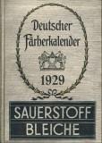 Deutscher Färberkalender 1929
