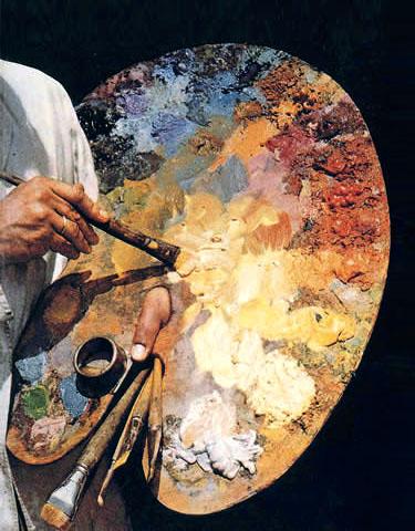 Kunstmaler, Maler, Palette, Pinsel