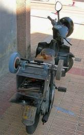 Scherenschleifer, Messerschleifer, mobiler Arbeitsplatz