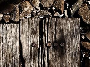Schwelle, Holz, Eisenbahn, Bahnschwelle