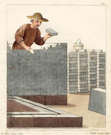 China, Mauer, Maurer, Arbeit, Arbeiter