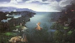Gemälde: CHARON bei der Überfahrt über den STYX in die Unterwelt