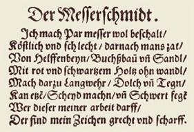 Ständebuch: Spruchtext