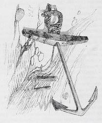 sw-Zeichnung: Anker